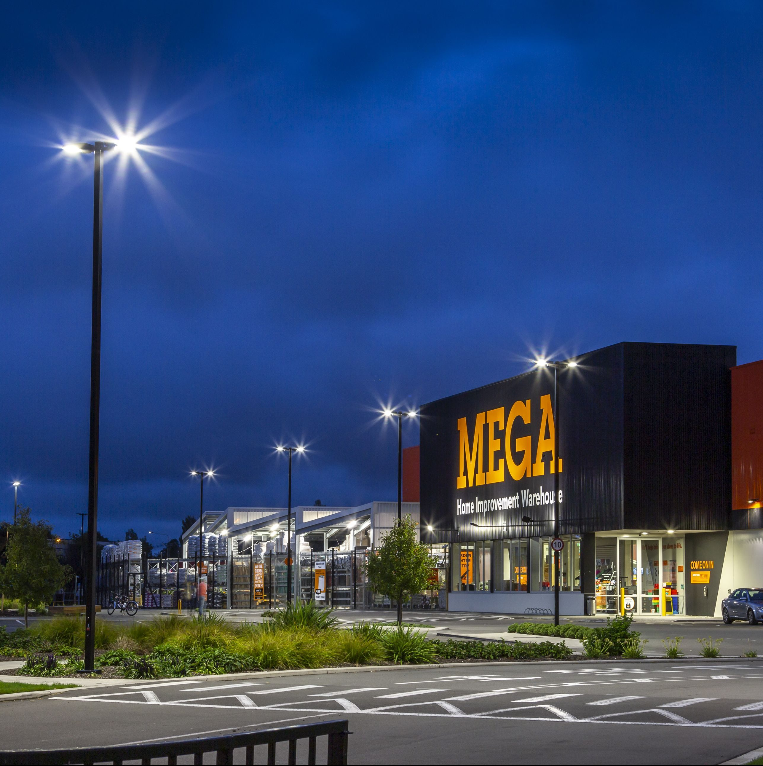Windsor Urban exterior lighting Mitre 10 Papanui car park