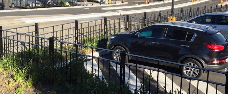 Windsor Urban road pedestrian fencing