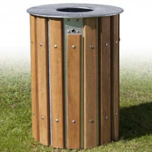 Windsor Urban wooden facade litter bin