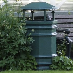 Windsor Urban octagonal rain cover litter bin